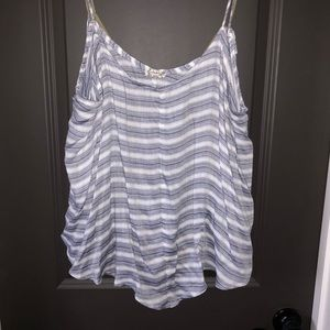 Free people navy and white striped tank